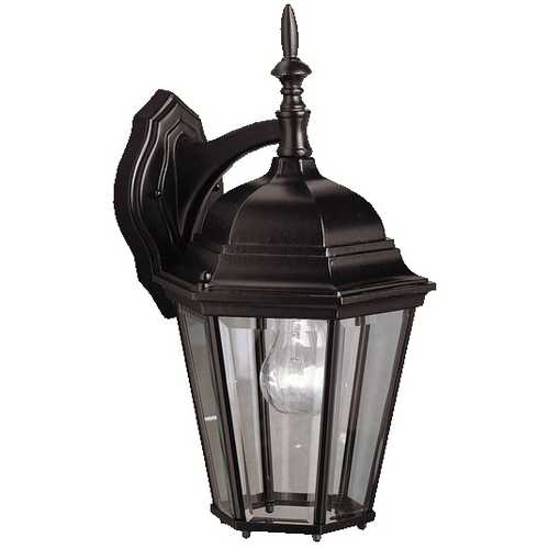 Kichler Lighting Kichler Outdoor Wall Light with Clear Glass in Black Finish 9655BK