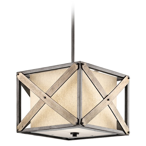 Kichler Lighting Kichler Lighting Cahoon Pendant Light with Square Shade 43775AVI