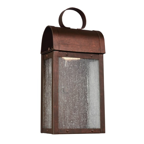 Sea Gull Lighting Sea Gull Conroe Weathered Copper LED Outdoor Wall Light 8514891S-44