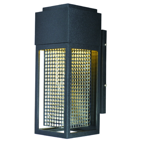 Maxim Lighting Maxim Lighting Townhouse Galaxy Black / Stainless Steel LED Outdoor Wall Light 53597GBKSST