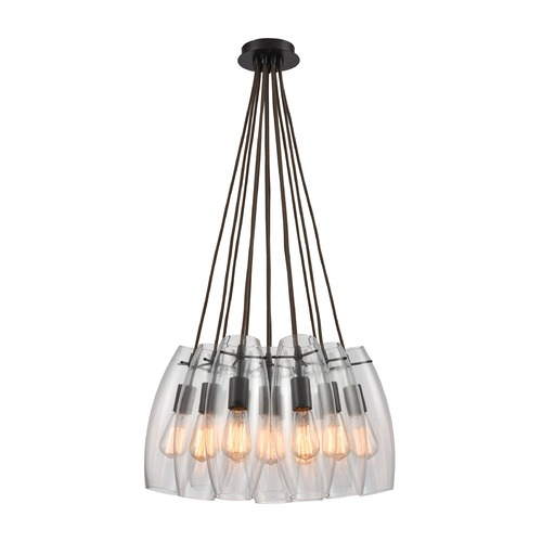 Elk Lighting Elk Lighting Menlow Park Oil Rubbed Bronze Multi-Light Pendant with Oblong Shade 60044-12SR
