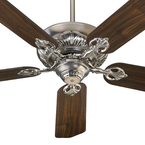 Quorum Lighting Quorum Lighting Chateaux Satin Nickel Ceiling Fan Without Light 78605-65