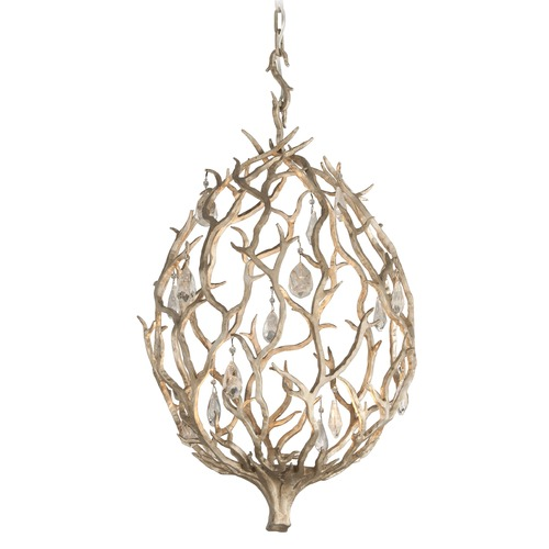 Corbett Lighting Corbett Lighting Enchanted Silver Leaf LED Pendant Light 205-41
