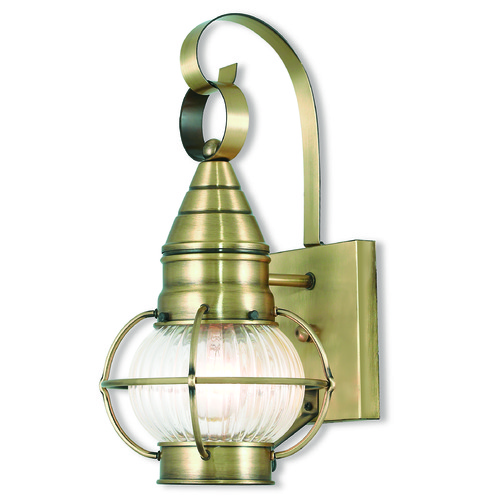 Livex Lighting Livex Lighting Newburyport Antique Brass Outdoor Wall Light 27000-01