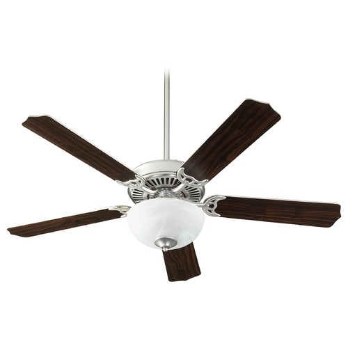Quorum Lighting Quorum Lighting Capri Viii Satin Nickel LED Ceiling Fan with Light 7525-9265