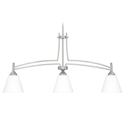 Quoizel Lighting Quoizel Lighting Billingsley Brushed Nickel Island Light with Empire Shade BLG338BN