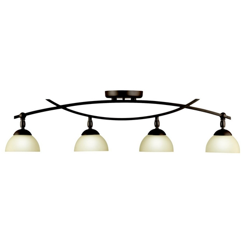 Kichler Lighting Kichler Modern Directional Light with Beige / Cream Glass in Olde Bron 42164OZ