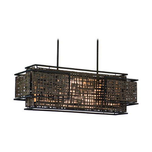 Corbett Lighting Corbett Lighting Shoji Bonsai Bronze Island Light with Rectangle Shade 105-54