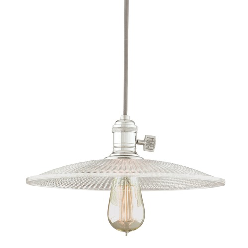 Hudson Valley Lighting Heirloom Polished Nickel Pendant Light with Bowl Shade 8002-PN-GM4