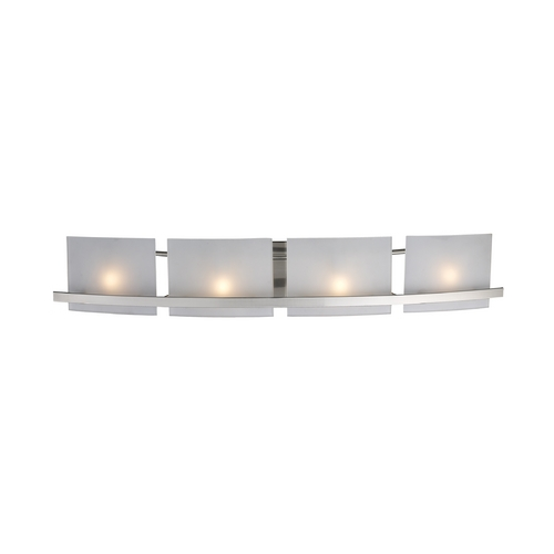 Elk Lighting Modern Bathroom Light with White Glass in Satin Nickel Finish 11283/4