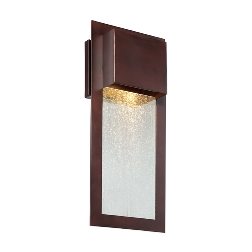 Minka Lavery Outdoor Wall Light with Clear Glass in Alder Bronze Finish 72382-246