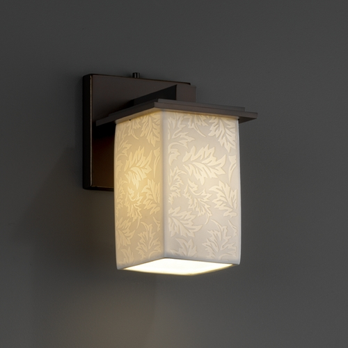 Justice Design Group Justice Design Group Limoges Collection Sconce POR-8671-15-LEAF-DBRZ