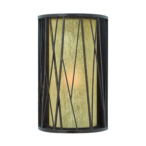 Hinkley Lighting LED Outdoor Wall Light with Amber Glass in Regency Bronze Finish 1154RB-LED