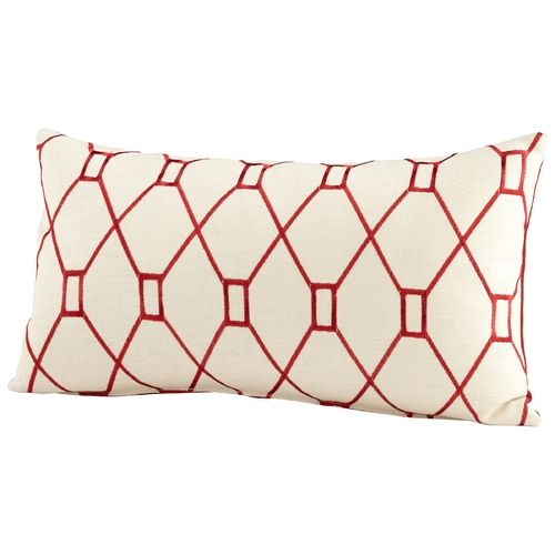 Cyan Design Cyan Design Obstruction Red & White Pillows & Throw 06524