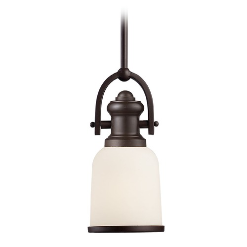 Elk Lighting Elk Lighting Oiled Bronze Mini-Pendant Light with Bowl / Dome Shade 66671-1