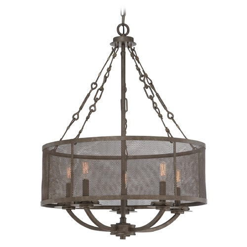 Savoy House Savoy House Galaxy Bronze Pendant Light with Drum Shade 7-2502-5-42