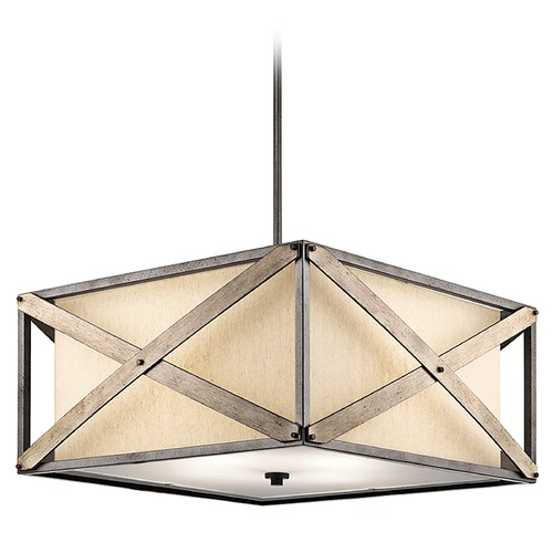Kichler Lighting Kichler Lighting Cahoon Pendant Light with Square Shade 43776AVI