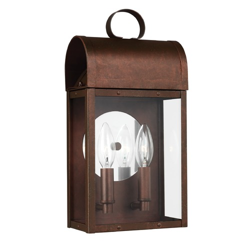 Sea Gull Lighting Sea Gull Conroe Weathered Copper Outdoor Wall Light 8614802-44