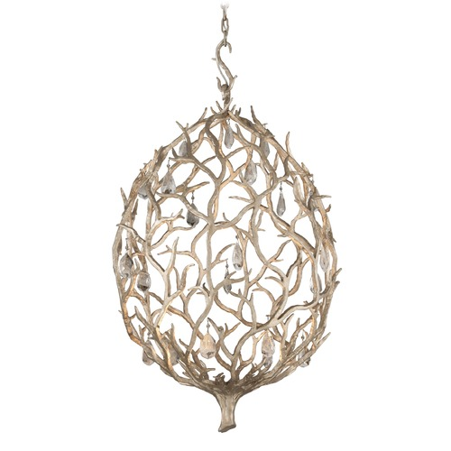 Corbett Lighting Corbett Lighting Enchanted Silver Leaf LED Pendant Light 205-42