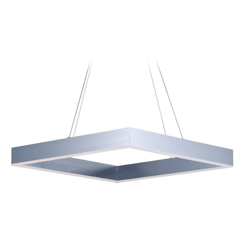 ET2 Lighting Metallika LED Brushed Aluminum LED Pendant Light E24296-AL