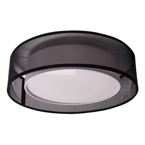 Kuzco Lighting Modern Black LED Flushmount Light with White Inner Shade 3000K 1262LM FM11415-BK
