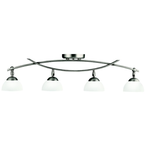 Kichler Lighting Kichler Modern Directional Light with White Glass in Antique Pewter Fi 42164AP