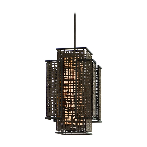 Corbett Lighting Corbett Lighting Shoji Bonsai Bronze Island Light with Rectangle Shade 105-72