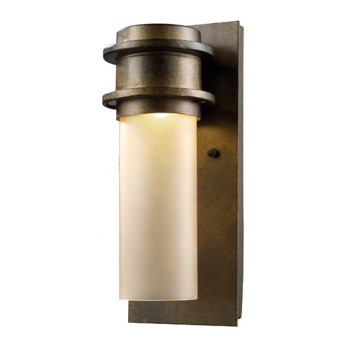 Elk Lighting Modern LED Outdoor Wall Light with White Glass in Matte Black Finish 43020/1