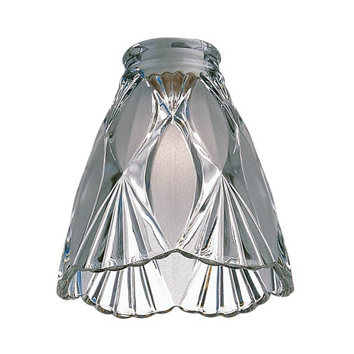 Monte Carlo Fans Clear Conical Glass Shade - 2-1/4-Inch Fitter Opening G420