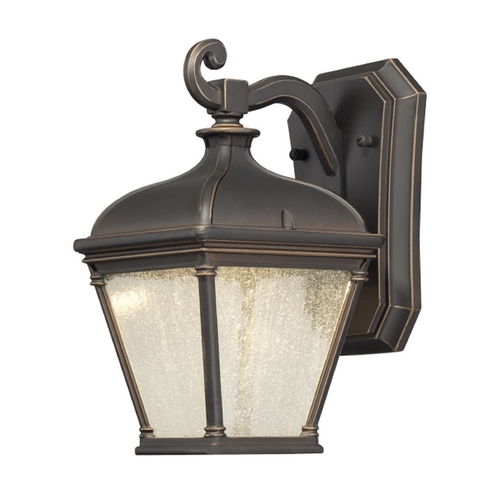 Minka Lavery LED Outdoor Wall Light with Clear Glass in Oil Rubbed Bronze W/gold Highlights Finish 72391-143C