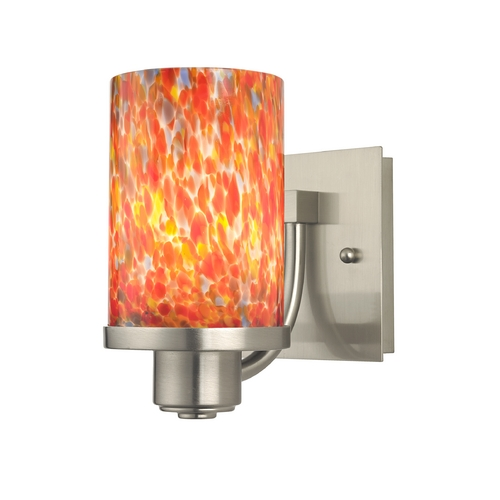 Design Classics Lighting Art Glass Modern Wall Sconce with Cylinder Shade 589-09 GL1012C