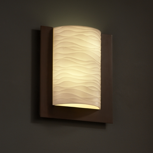 Justice Design Group Justice Design Group Porcelina Collection Sconce PNA-5562-WAVE-DBRZ