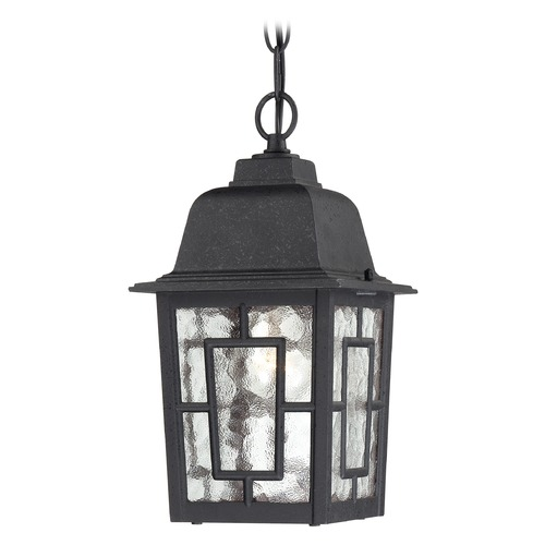 Nuvo Lighting Outdoor Hanging Light with Clear Glass in Textured Black Finish 60/4933