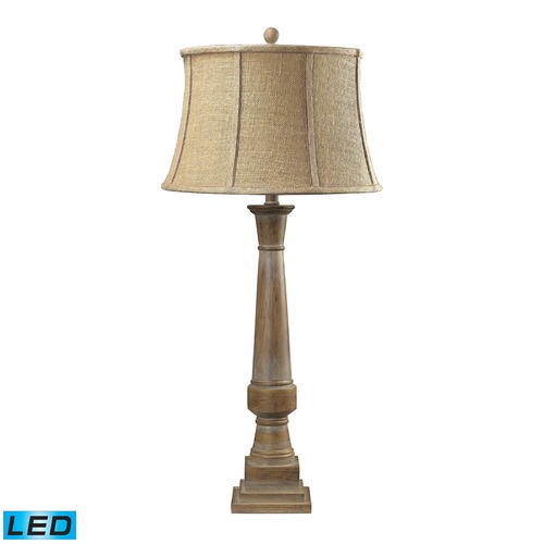 Dimond Lighting Dimond Lighting Bleached Wood LED Table Lamp with Empire Shade 93-9245-LED