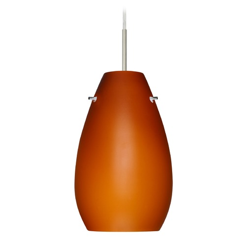 Besa Lighting Besa Lighting Pera Satin Nickel LED Mini-Pendant Light 1JT-412680-LED-SN