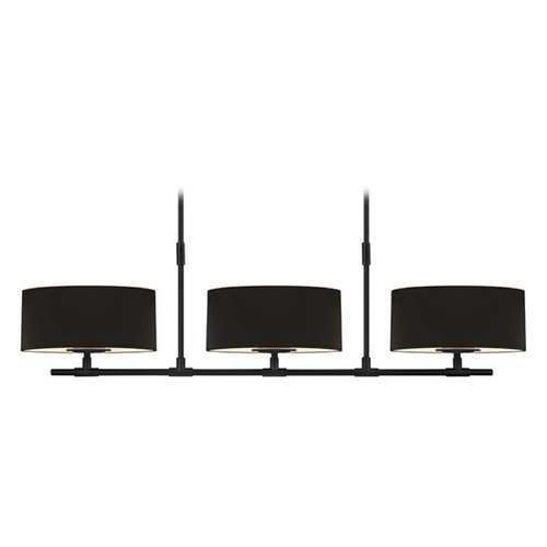 Sonneman Lighting Sonneman Lighting Soho Satin Black Island Light with Drum Shade 4953.25