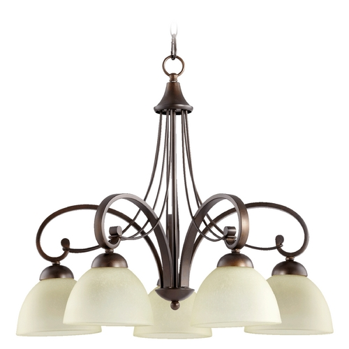 Quorum Lighting Quorum Lighting Lariat Oiled Bronze Chandelier 6331-5-86