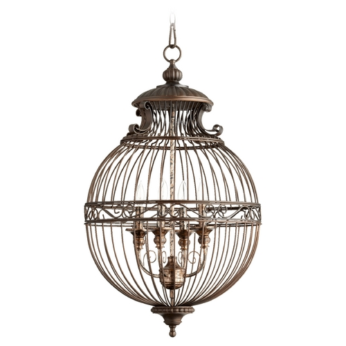 Quorum Lighting Quorum Lighting Oiled Bronze Pendant Light 6773-4-86