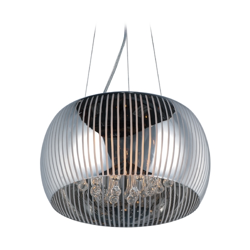 ET2 Lighting Sense Ii Polished Chrome Pendant Light with Drum Shade E21405-81PC