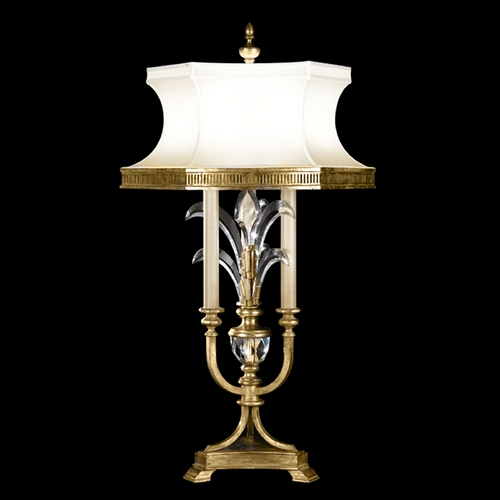 Fine Art Lamps Fine Art Lamps Beveled Arcs Gold Leaf Table Lamp with Hexagon Shade 769410ST