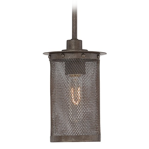 Savoy House Savoy House Galaxy Bronze Mini-Pendant Light with Cylindrical Shade 7-2503-1-42