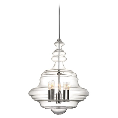 Hudson Valley Lighting Washington 5 Light Pendant Light - Polished Nickel 4020-PN