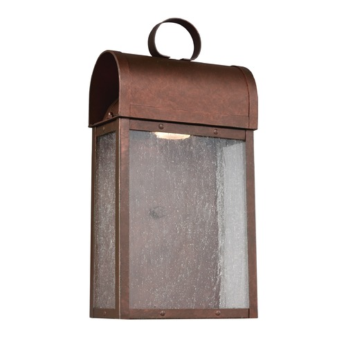 Sea Gull Lighting Sea Gull Conroe Weathered Copper LED Outdoor Wall Light 8614891S-44