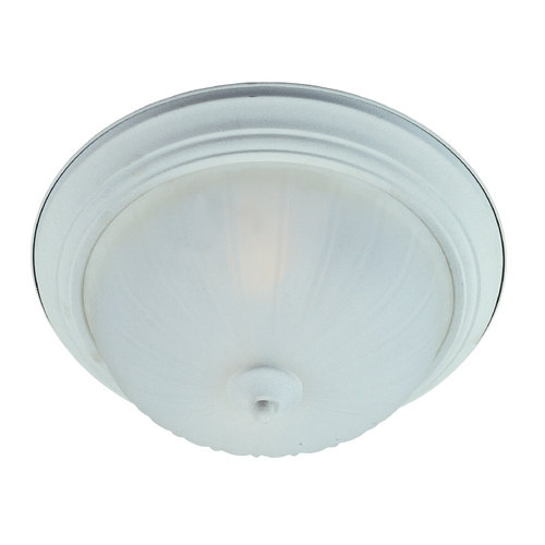 Maxim Lighting Flushmount Light with White Glass in Textured White Finish 85832FTTW
