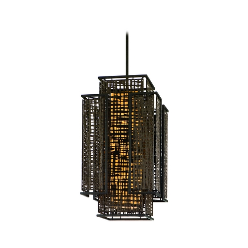 Corbett Lighting Corbett Lighting Shoji Bonsai Bronze Island Light with Rectangle Shade 105-74