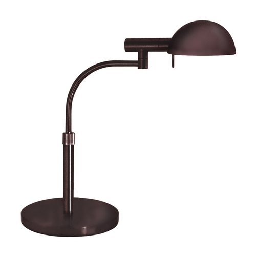 Sonneman Lighting Modern Pharmacy Lamp with Brown Shade in Rose Bronze Finish 3043.30
