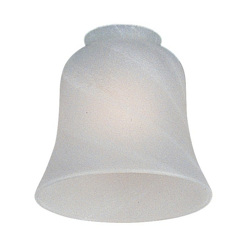 Monte Carlo Fans White Bell Glass Shade - 2-1/4-Inch Fitter Opening G826