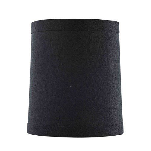 Design Classics Lighting Clip-On Cylindrical Black Lamp Shade SH9607
