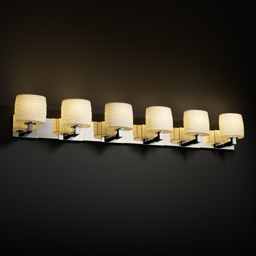 Justice Design Group Justice Design Group Limoges Collection Bathroom Light POR-8926-30-WAVE-CROM