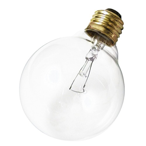 Satco Lighting Incandescent G30 Light Bulb Medium Base 120V by Satco S3652